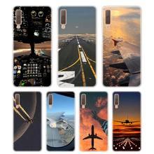 Silicone Phone Case Aircraft on air Printing for Samsung Galaxy A8S A9 A8 Star A7 A6 A5 A3 Plus 2018 2017 2016 Cover
