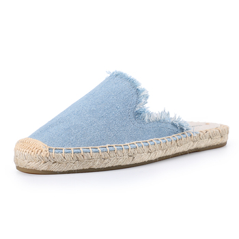 Tienda Soludos Women's Frayed Mule Canvas Rubber Solid Spring/autumn Women Slippers Fashion Slides Summer Sandals Plush Shoes  3