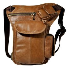 Original Leather Design Men Multi Function Casual Shoulder Messenger Bag Fashion Waist Belt Pack Drop Leg Bag Tablet Pouch 3106l(China)