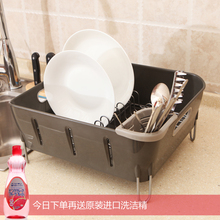kitchen dish rack shelf stainless steel drain and drain and put the dish rack shelf storage rack Cutlery