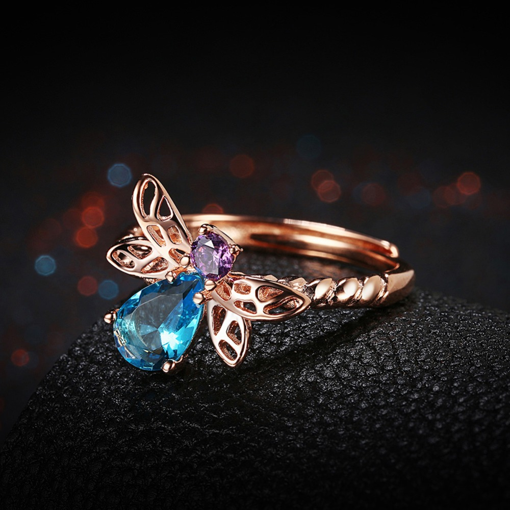 Aliexpress.com : Buy Rose Gold Color Women\'s Ring Sparkling Style ...