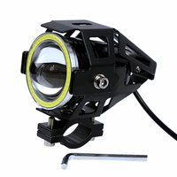 U7 125W High Quality Devil Angel Eye Motorcycle LED Headlight Head Light Lamp Spotlight Fog Light