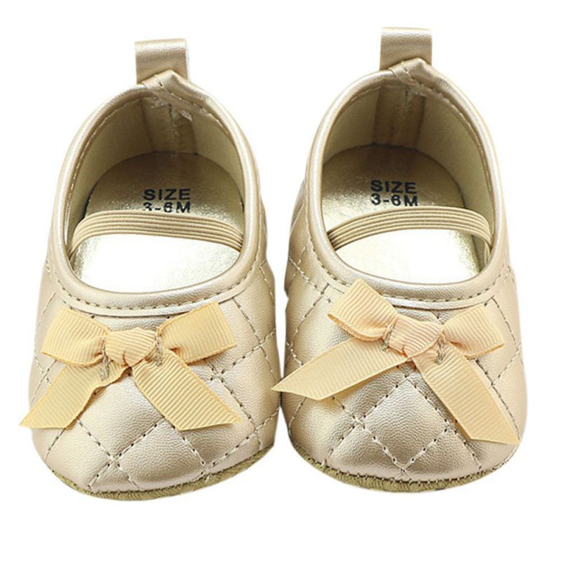2017 New Style Infantil Baby Girl Shoes Butterfly knot Elastic band Solid Shoes First Walkers baby