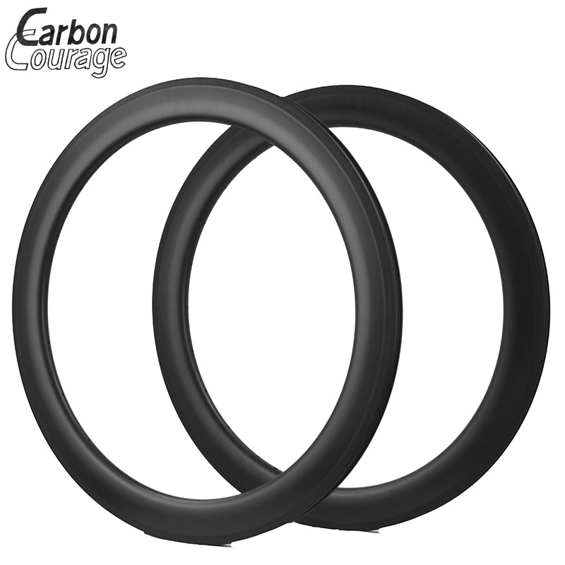 Wholesale 60mm Tubular Carbon Matte Cycling Road Bike 700C Carbon Tubular Wheel Rim (Basalt Brake Side) Bicycle Rim 23mm Width west biking bike chain wheel 39 53t bicycle crank 170 175mm fit speed 9 mtb road bike cycling bicycle crank