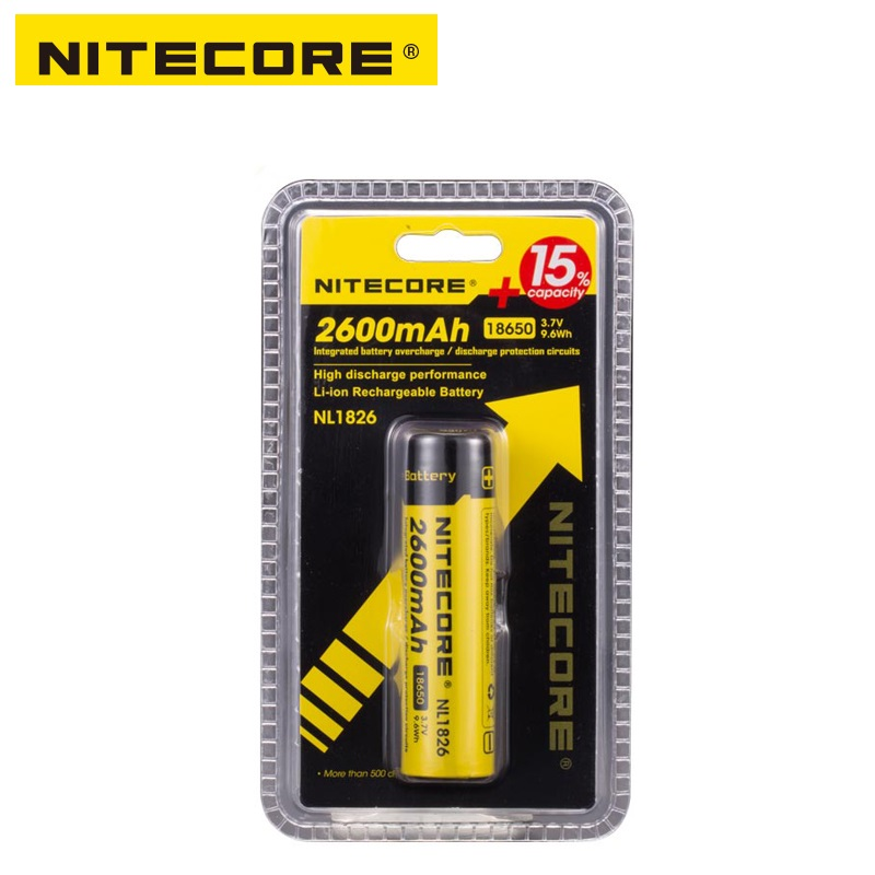 Free shipping Nitecore NL1826 2600mAh 18650 3.7V Rechargeable Li-ion battery (NL186) 8pcs lot new original sanyo 18650 2600mah ur18650zy 3 7v li ion rechargeable battery free shipping