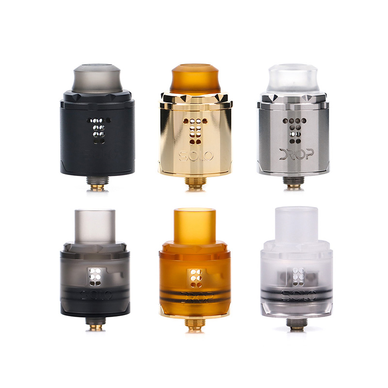 2pcs pre-sale Original Digiflavor Drop Solo RDA single coil 22mm drop with two caps standard 510 and BF Squonk 510 pin deep base цена