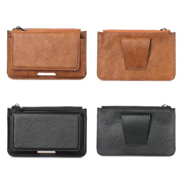 Multi Functional Purse Belt 5 5 Mobile Phone Case Zipper Three Pocket Bag Protection Cover For