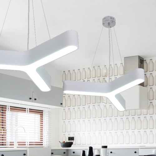 Modern LED Pendant Light Fixture Triangle LED Suspension Light for Dinning Room, Bedroom, Office new modern led pendant light remote controlling handing lamp for living dinning room bedroom hotel diy suspension lamp fixture page 7