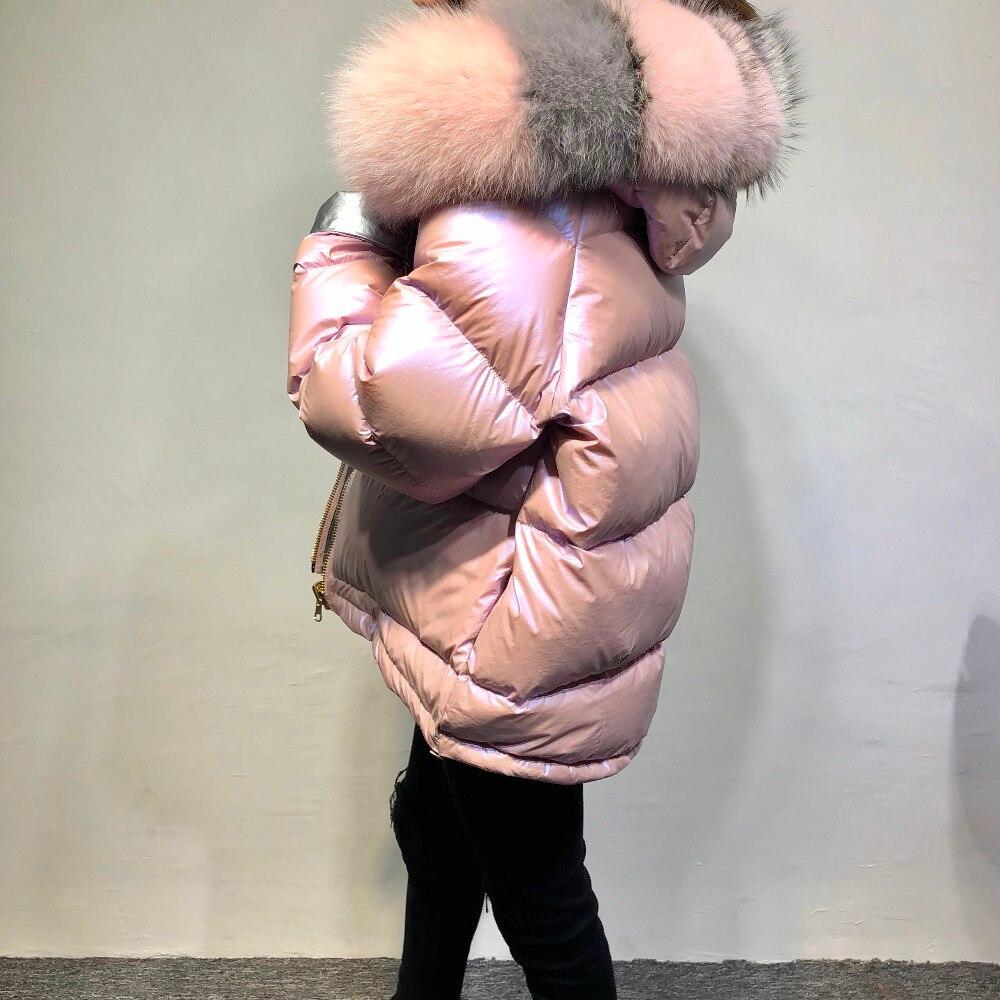 Mode Canard rose Fox Fourrure Épais Le Parka Réel Veste 2018 Col Femmes Vêtements Noir Vers Bas Manteau Chaud D'hiver Survêtement or De Duvet dCorBWxe