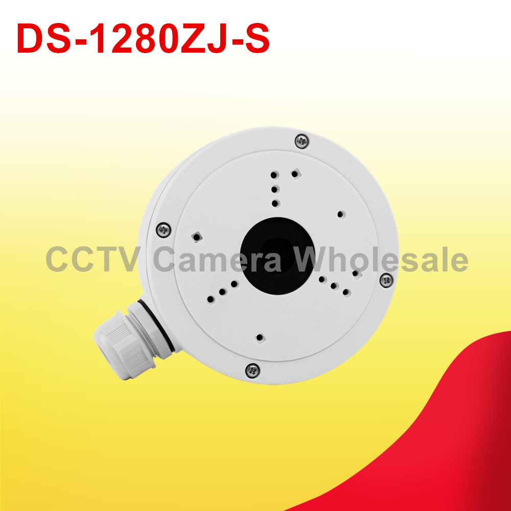 DS-1280ZJ-S Junction box CCTV camera bracket for DS-2CD2642FWD-IZS DS-2CD2T42WD-I3/5/8 DS-2CD2T85FWD-I5/8 ds 1602zj box pole ptz camera vertical pole mount bracket with junction box