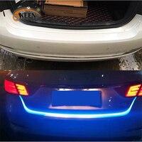 OKEEN 레드 블루 흐르는 LED 스트립 자동차 트렁크 동적 방향 등 빛 테일 트렁크 조명 bmw e46/폭스 바겐/포드