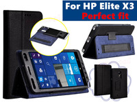 For HP Elite X3 5 96 Special Phone Luxury Black Bag Lichee Style Litchi PU Leather