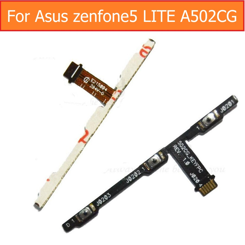 Best Quality Genunie Switch On Off Power Flex Cable For Asus Zenfone 5 LITE A502CG Volume Control Flex Cable Lock Screen Button