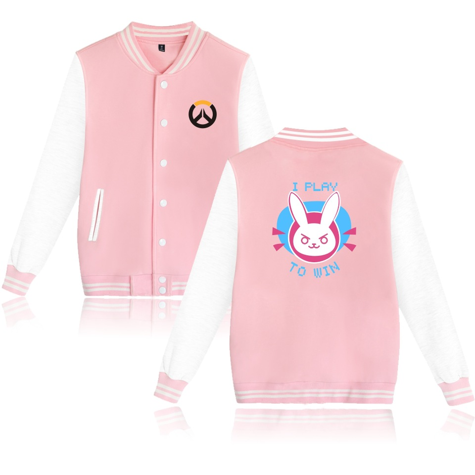 Overwatch DVA Couple  Baseball Jacket Sweatshirt women Men Hoodie Autumn Winter Coat