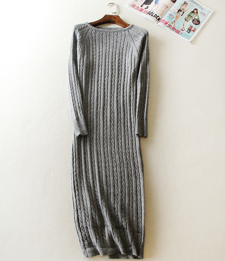 New Twist Women long sweater dress 2019 spring sexy slim Bodycon Dresses Elastic Skinny Split Dress Brief Knitted Dress vestidos in Dresses from Women 39 s Clothing