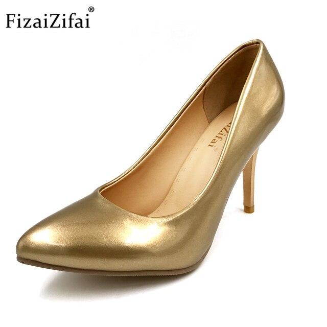 FizaiZifai Women\'s Pumps Thin High Heels Pointed Toe Shoes Woman ...