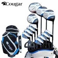 Бренд Cougar. 13 фото роскошные мужские гольф клубы. Титан сплава стержень драйвер. клюшки для гольфа комплект Гольф Графит Валы Гольф комплект