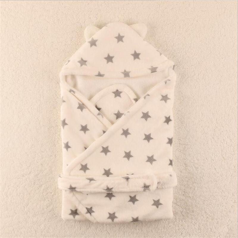Baby <font><b>Blanket</b></font> Neonatal Hold Flannel 3D Hooded BlanketSwaddling For Toddlers Infant Envelope For Newborns Bathrobe Towel Comhoney