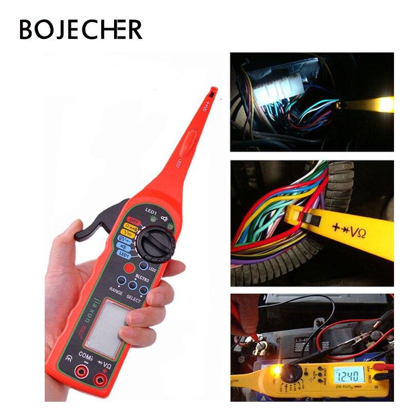 Testeur de Circuit de voiture universel puissance électrique multifonction 0-380 V (écran) lampe multimètre automobile outil de réparation de voiture