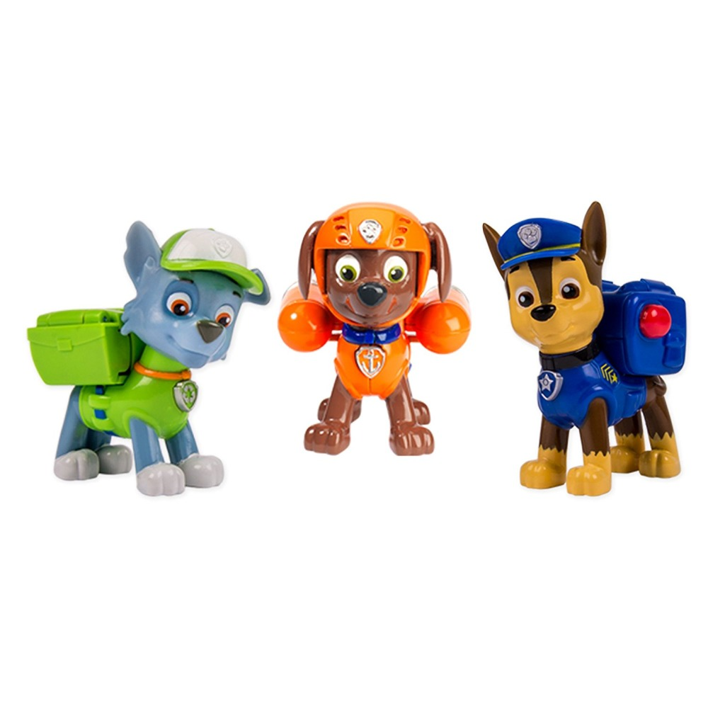 3pcs Genuine Paw Patrol Original Box (rocky + Zuma + Chase) Badge Action  Super Pup Nickelodeon Figure Boy Girl Gift Kids Toy In Action U0026 Toy Figures  From ...
