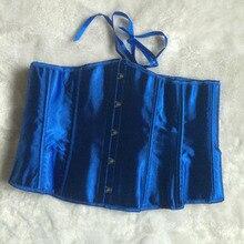 LAUWOO Sexy Blue Satin Corset
