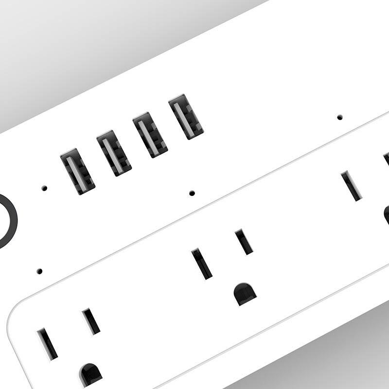 Nouvelle prise intelligente WiFi prise US 4 fonction de synchronisation USB charge rapide sûre antidérapante pour la maison - 5