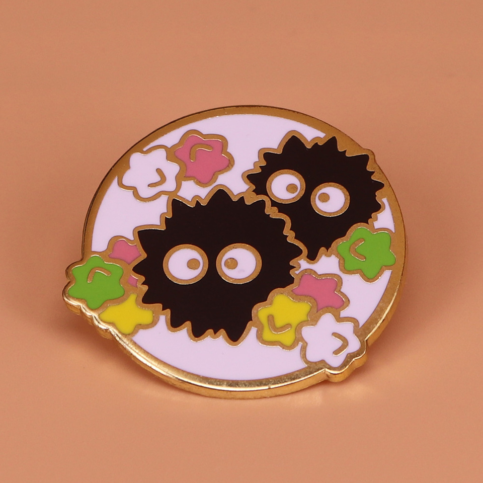 Soot Sprite Enamel Pin Rainbow Stars Brooch Hayao Miyazaki Spirited Away Badge Anime Jewelry Cute Ghost Pins Halloween Accessory Pins Badges Aliexpress