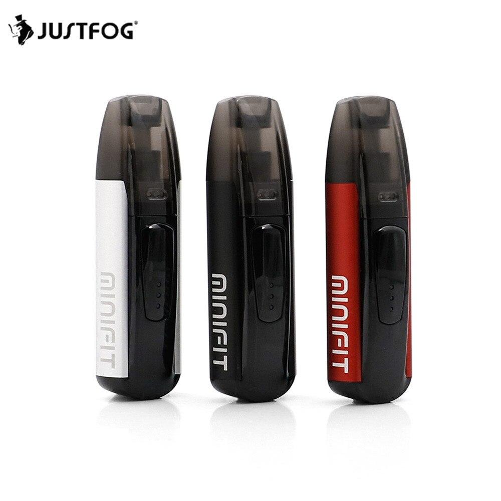3 pcs/lot NOUVEAU JUSTFOG MINIFIT Starter Kit 370 mah tout en un vaporisateur kit pk brise kit avec MINIFIT batterie compact pod vaping dispositif