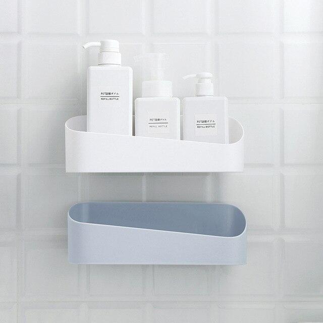 SAFEBET półka łazienkowa uchwyt na przybory kuchenne opróżniania półka do przechowywania umywalka organizator naklejki ścienne akcesoria łazienkowe Drop Shipping
