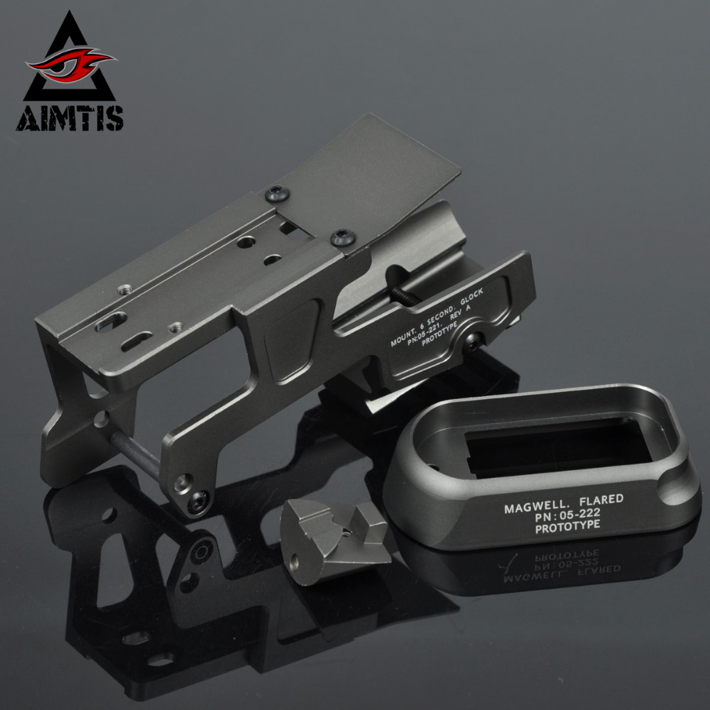 AIMTIS ALG Defense 6-Second Mount Optics Scope Mount RMR For Pistol Gen3 Glock 17 18C 22 24 31 34 35 Handguns With Magwell aimtis x300 series x300v ir flashlight tactical led night vision weapon light glock 17 18 18c pistol armas fit 20mm rail