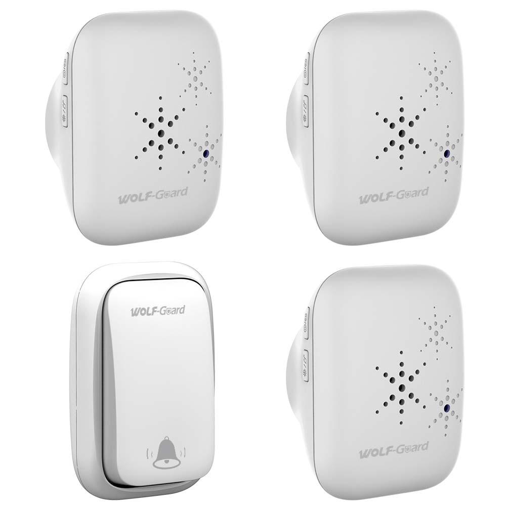 Wolf-Guard QX002 Wireless Home Security Welcome Self-Powered Waterproof Doorbell LED Indicator Multiple Music Smart Door Bell