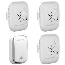 купить!  Wolf-Guard White Wireless Home Security Добро пожаловать Self-Power Водонепроницаемый дверной звонок