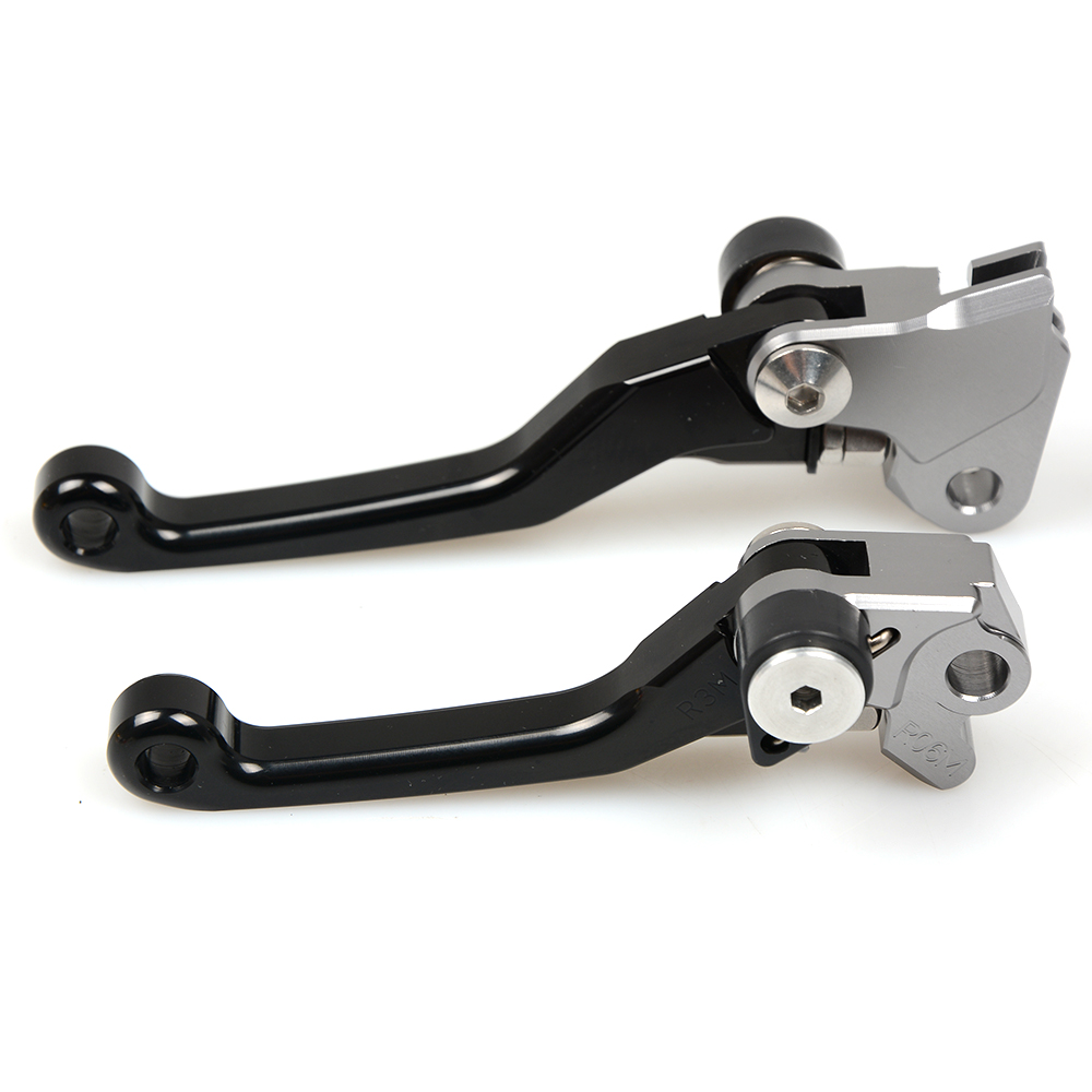 Silver CNC Pivot Brake Clutch Levers for Honda CRF250R CRF450R <font><b>CRF</b></font> 250R <font><b>450R</b></font> 2007 2008 2009 2010 2011 2012 2013 2014 2015 <font><b>2016</b></font> image