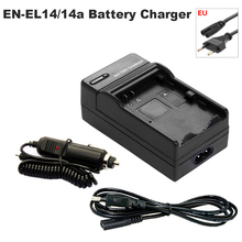 цена на EN-EL14 Battery Charger + Car Adapter for Nikon P7000 P7100 P7700 P7800 D3100 D3200 D3300 D3400 D5100 D5200 D5300 D5500 D5600