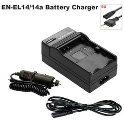 Adaptador de Bateria + Carregador de Carro para Nikon P7000 EN-EL14 P7100 P7700 P7800 D3100 D3200 D3300 D3400 D5100 D5200 D5300 D5500 d5600