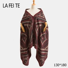 Cashmere Blanket Scarf Women Poncho Winter Stoles Pashmina Shawl Female Long Wool For Warm