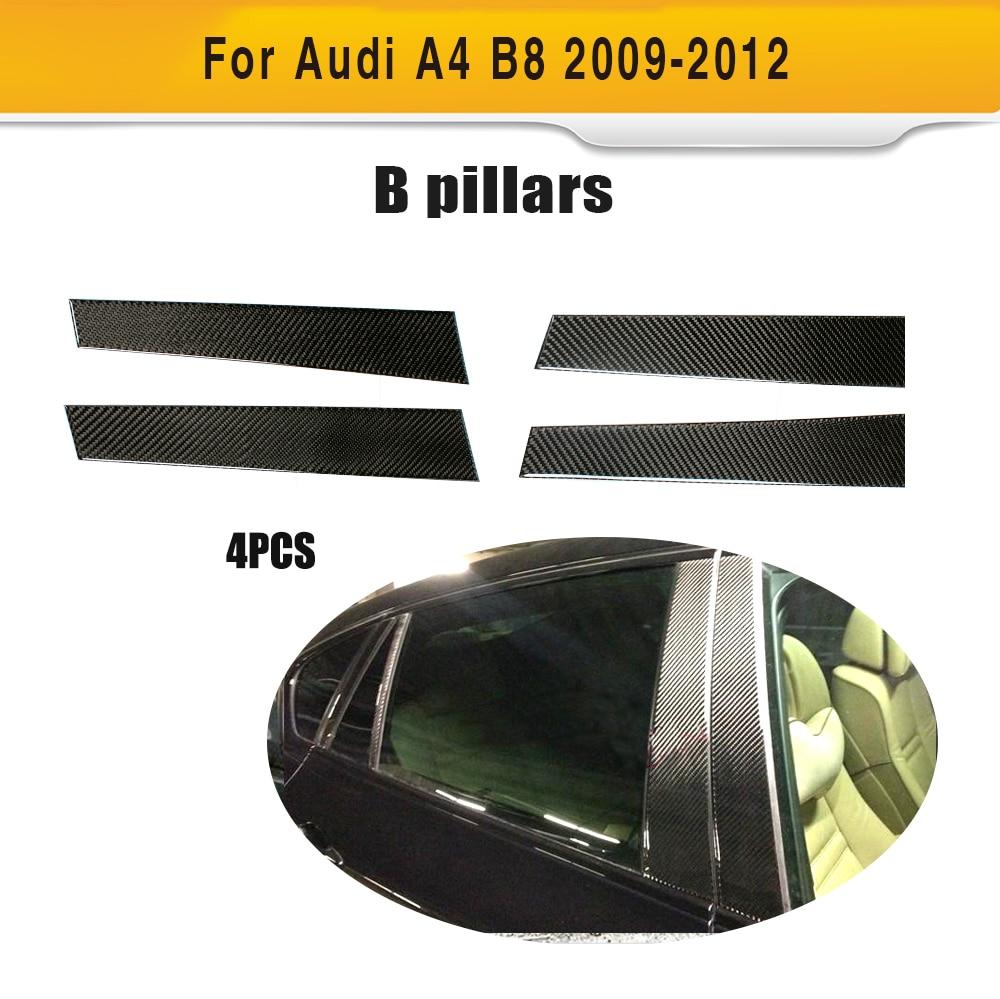 Garnitures de pilier de voiture B de Fiber de carbone pour Audi A4 B8 & S4 et berline de Base de Sline 2009-2012