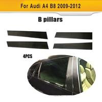 Koolstofvezel Auto Een Pijler Versieringen voor Audi A4 B8 & S4 & Sline Base Sedan 2009-2012