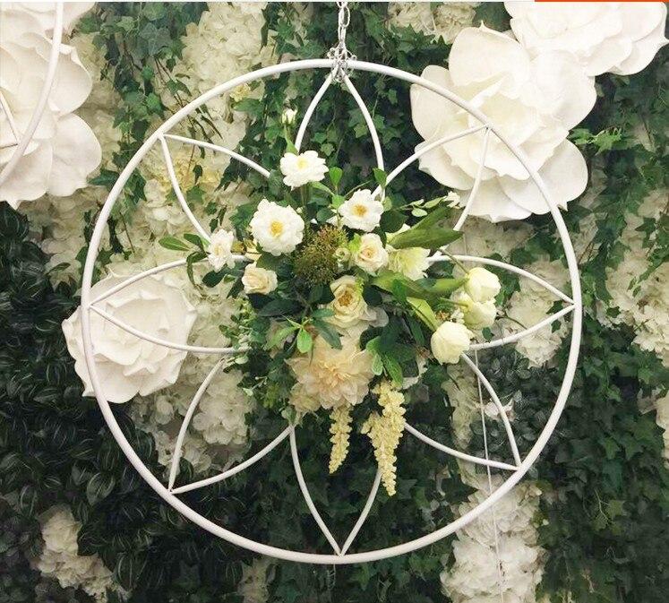 2018 mode métal fleur couronne titulaire accessoires de mariage décoration fleur vase photographie décorations