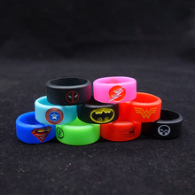 10pcs/lot ecig vape band protection o ring silicon band skull design for rdta rda atomizer