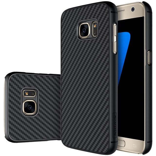 Спс Samsung Galaxy S7 Случае Nillkin Синтетического Волокна Жесткий Углеродного Волокна PP Пластиковый Корпус для Samsung Galaxy S7 5.1 ''S7 Edge 5.5''