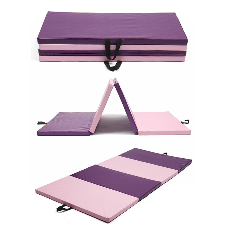 Folding Soft Yoga Mats 240x120x5cm 3 Color Play Gym Sport Health Mat Large Non Slip Fitness Exercise Pad Yoga Mats gymnastics mat thick four folding panel fitness exercise 2 4mx1 2mx3cm