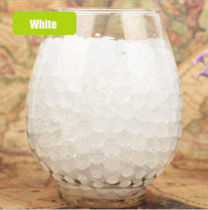 100 pcs/lot Crystal Soil Water Beads Hydrogel Gel Polymer Seeds Flow Mud Grow Ball Beads Orbiz Growing Bulbs Children Toy Ball G