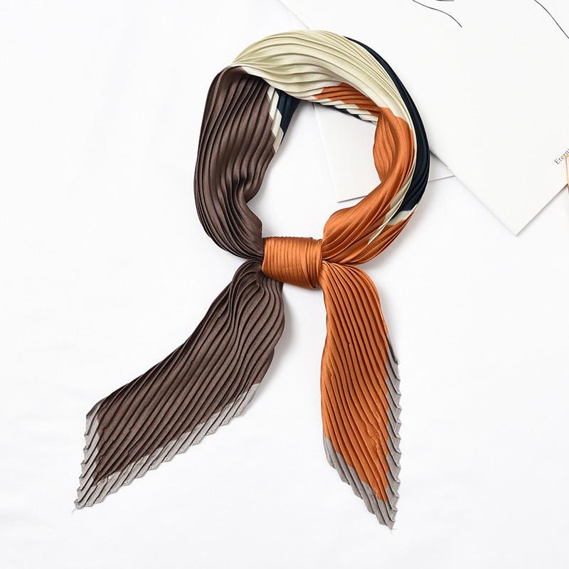 Acheter Carré De Soie Froissé Petit Col Écharpe pour Femmes Déformation  Bandana cravate Satin De Soie Imprimé Foulard Femme Mouchoir NOUVEAU  3926  Pas  Cher ... ee54c879331