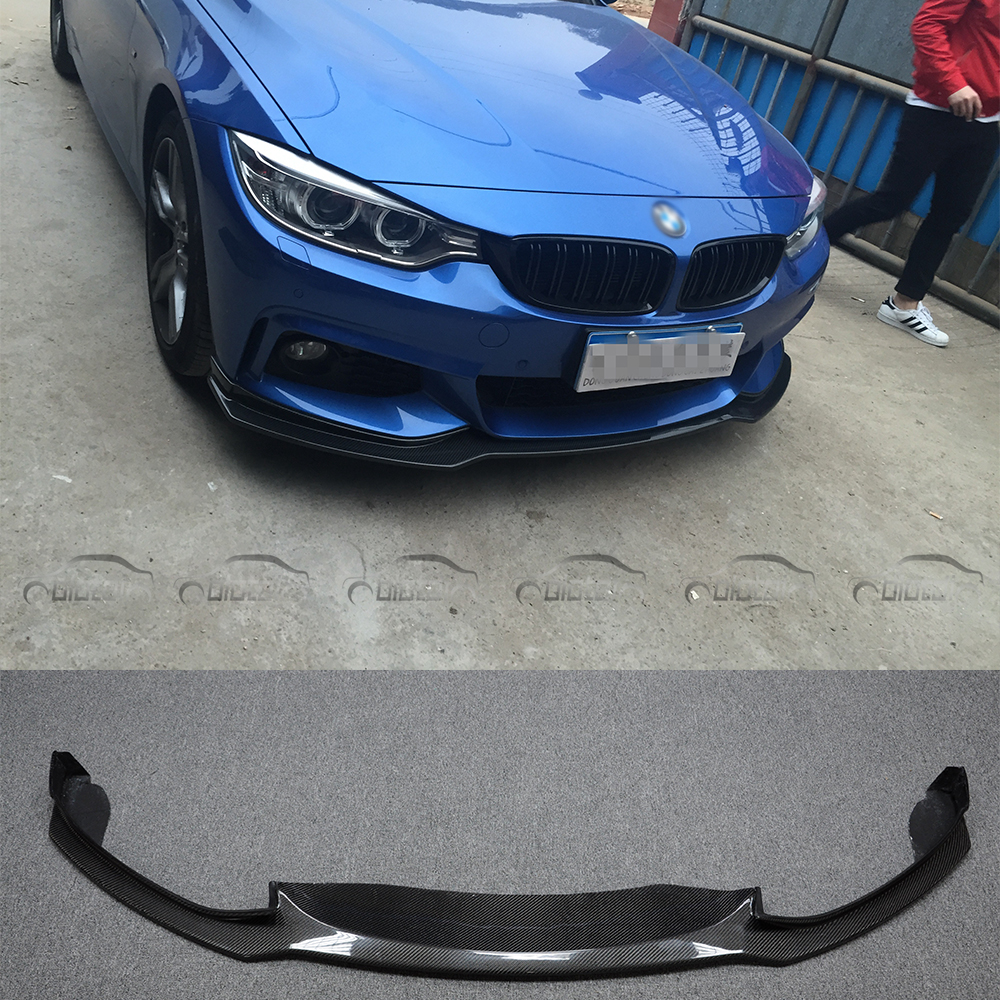 for BMW 4 Series F32 M Sport Bumper 2014UP E Style Car Style Carbon Fiber Racing Front Lip Splittercar accessories car styling