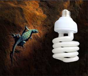 1Pcs/lot Reptile Compact Fluorescent Vivarium Lamp Light 10.0 UVB UVA UV 26W 10.0 E27 Screw Light P415