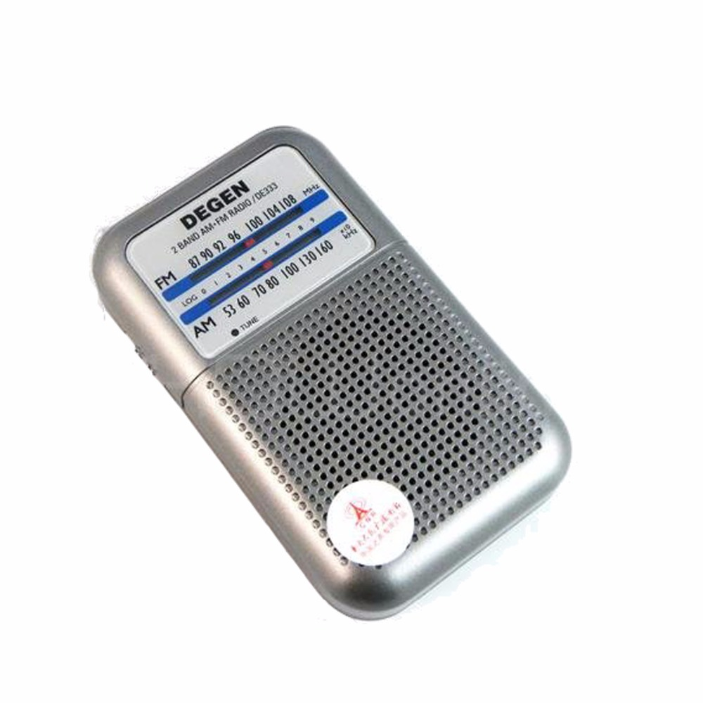 Degen Radio DE333 FM AM Penerima Mini Handle Portable Two Band FM Radio Recorder A0796A