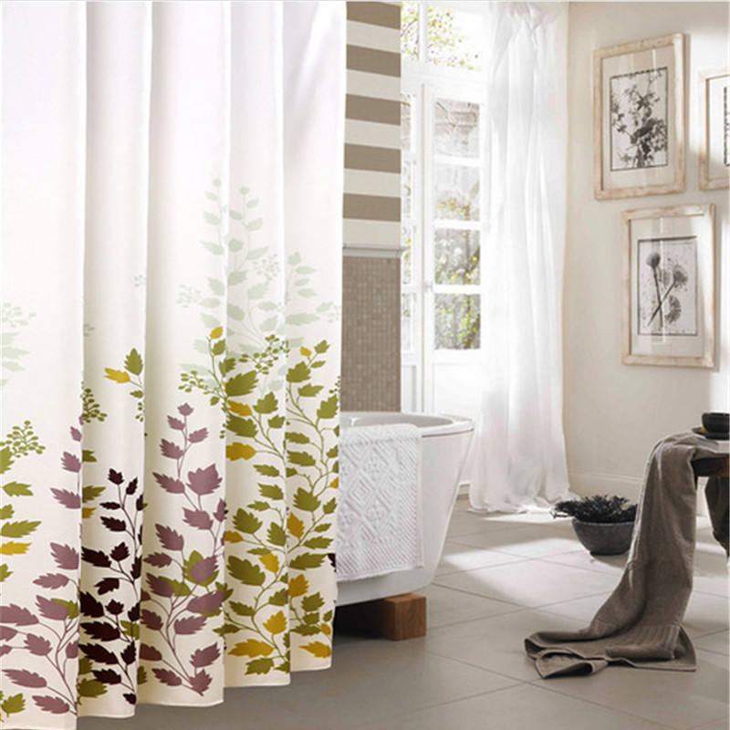 Mrosaa Home Shower Curtain Printing Polyester Thickening Shower Curtain Household Waterproof Mildew Proof Bathroom Curtain