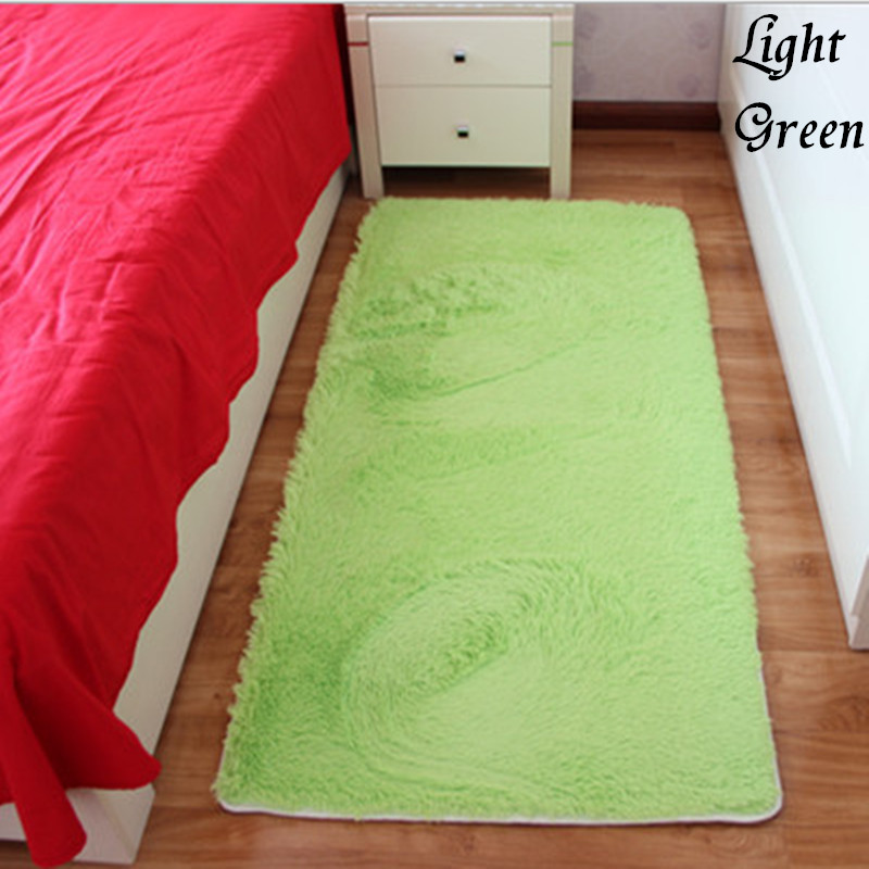 Free Shipping New Arrival Light Green Rectangle Bath Mat Bedroom Floor Carpet Absorbent Non-Slip Doormat