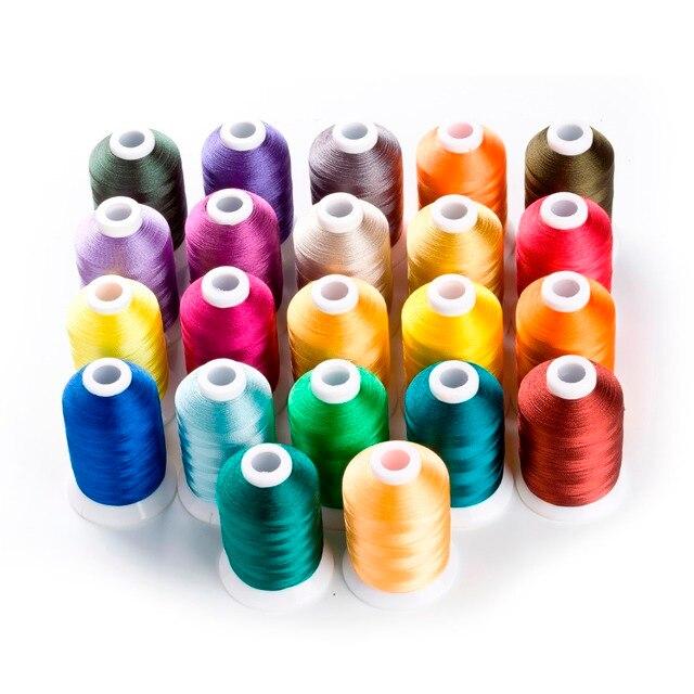 Nowa seria kolorów Brother haft komputerowy nici do Trilobal poliester 1000 m * 22, 120d/2 Super połysk, o wysokiej wytrzymałości